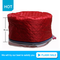 Wholesale Hair Steamer Treatment Hat - Wholesale-Hot Hair Thermal Treatment Beauty Steamer Heating Evaporation SPA Cap Styling Tools Three Gears Washable Electric Hat MF00203