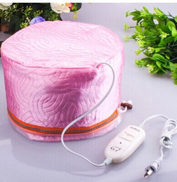 Wholesale Hair Steamer Treatment Hat - Wholesale-New Hair Thermal Treatment Beauty Steamer SPA Cap Nourishing Hair Care Hat 88498