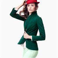 Wholesale Women S Rayon Blazers - Wholesale-XS-XXL woman fashion british style slim slim elegant blazer jacket casual lady suit blazers back furcal plus size