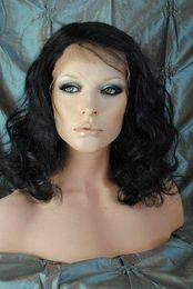 "$enCountryForm.capitalKeyWord NZ - New Glueless Full Lace Celebrity Hairstyle 14""-18"" Body Wave #1B Natural Black Human Hair Wigs GFL029"