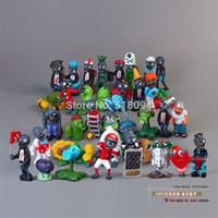 Wholesale Super Mario Action Figures Collection - Wholesale-Plants vs Zombies PVC Action Figures PVZ Plant + Zombies Collection Figures Toys Gifts 40pcs set