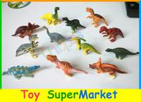 Wholesale Dinosaur Action - Wholesale-12pcs Dinosaur Toy Set Plastic Jurassic Play Toys Dinosaur Model Action & Figures T-REX DINOSAUR Best Gift for Boys