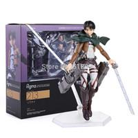 """Wholesale Shingeki Kyojin Rivaille - Wholesale-Attack on Titan Shingeki no Kyojin Rivaille Figma 213 Boxed PVC Action Figure Model Collection Toy 6"""" 14CM ATFG061"""