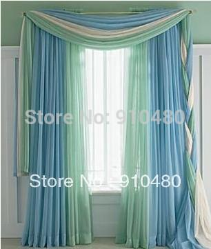 Wholesale Luxury Sheer Cafe Curtains Scarf Valance