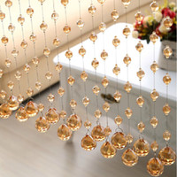 Wholesale Beaded Dividers - Wholesale-Crystal Glass Luxury Beaded String Curtains Semi blackout Curtain For Bedroom Windows Door Living Room Divider Partition Screen