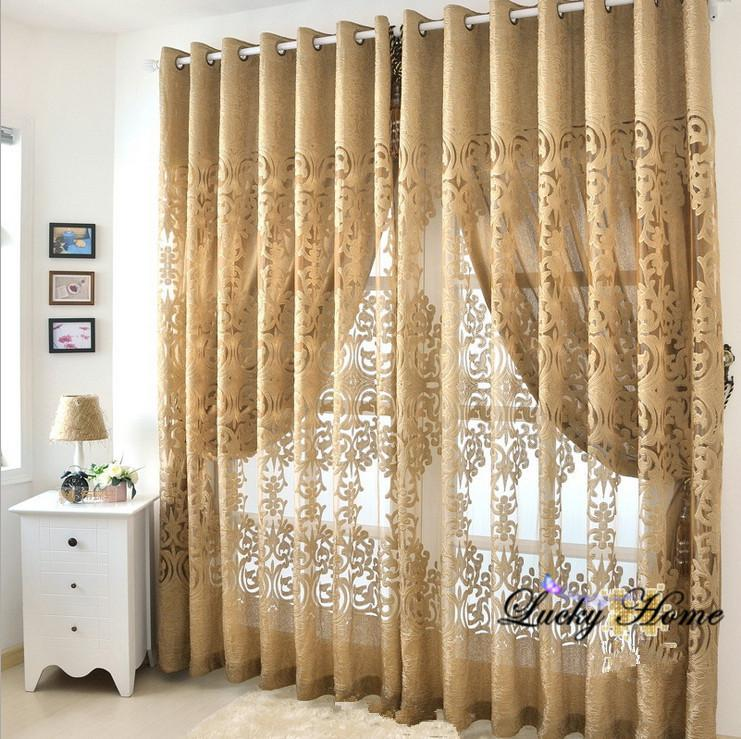 Wholesale curtain sheer tulle screening clipping and for Tende sala on line