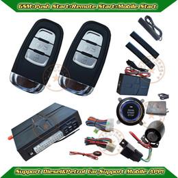 Wholesale Pke Push Start Buttons - Wholesale-PKE Car alarm, GSM car alarm,remote start,push button start, mobile start,SOS help,bypass module optional,smart car alarm,CE