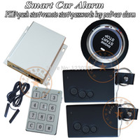 Wholesale Alarm System Key Pad - Wholesale-hot selling smart car alarm system is with 2pcs smart card keys,passwords key pad unlock or start,central lock automatication