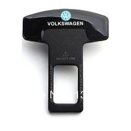 Wholesale Keyless Entry For Cars - Wholesale-2PCS Eliminate Stop Alarm Seat Belt Insert Plug , Metal car belt buckle, seat belt buckle For VW golf cc B6 B7 JETTE