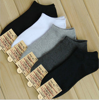 Wholesale Open Free - Wholesale-10 pairs lot short opening men's sports socks pure color casual sock for men 6 colors free shipping
