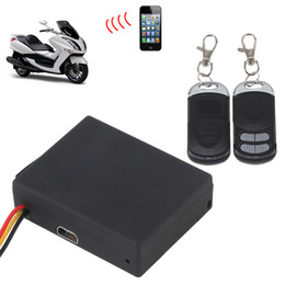 Wholesale Vehicle Remote Start - Wholesale-RF-V10 gsm sms car vehicles tracker and alarm security system 2 two way with remote start engine, Free Shipping