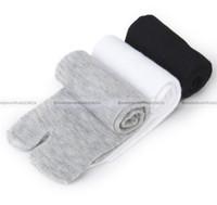 Wholesale Japanese Over Knee Socks - Wholesale-Shanghaimagicbox 3 Pairs Japanese Style Kimono Flip Flop Sandal Split Toe Tabi Ninja Socks 21114303