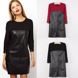 Black dress quarter sleeve leather