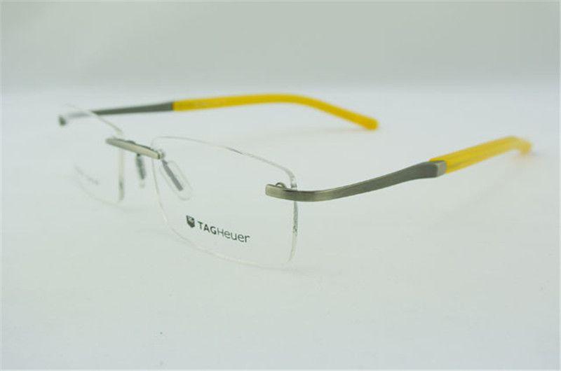 wholesale eyeglass frames mens women flexible yellow rimless glasses optic eyeglasses prescription frame rx t0302 online with 5645piece on y78ys - Yellow Eyeglass Frames