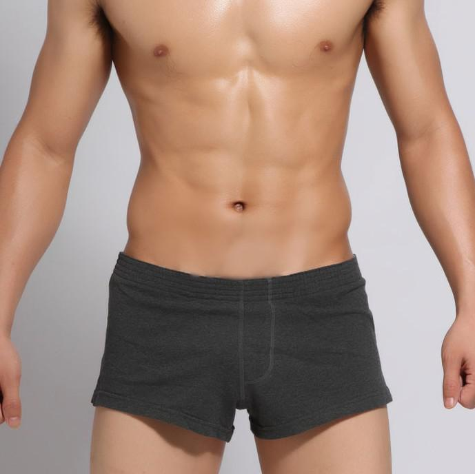 3a19df92dcaa92 2019 Wholesale SEOBEAN Men'S Men'S Cotton Boxer Underwear Lounge Shorts  Sport Trunks Pajama Home Pants From Tt2015, $16.61   DHgate.Com