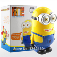 Wholesale Despicable Figurines - Wholesale-Despicable Me 2 Minion Dave Talking Action Figure Interactive 3D Eyes Figurines Dolls Electronic Pet Brinquedos Toys Funny