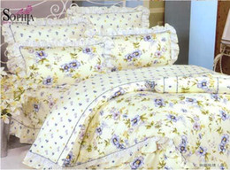 Wholesale Silk Comforter Brown - New Hot selling New 100% cotton printed Bedspreads Coverlets( 4PCs bedding sets) bed-in-a-bag FF23