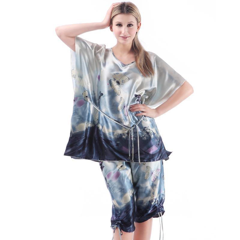 c406748a0514 2019 Wholesale TOP Sale Women Pajama Sets Tops + Pants Western Ladies  Sleepwear Clothing Set Plus Size Women S Bathrobe Silk Robes From Xx2015