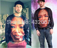 Wholesale Plus Size Galaxy Sweater - Wholesale- New fashion novelty funny printed Oprah Picture 3D Hoodies sweaters Galaxy sweatshirts plus size