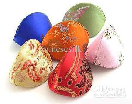 Rustic Shell Ring Gift Box Wedding Storage Case Small Cardboard Jewelry Boxes Chinese Silk brocade Printed Packaging Wholesale