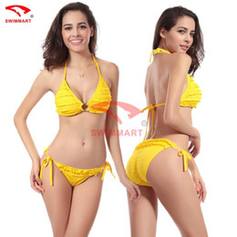 Wholesale Sexy Elegant Bikinis - Wholesale-Bikini Set 2015 Hot Women's Elegant Push Up Padded Cup Swimwear Swimsuit Ladies' Sexy Bikini Set Sexy brand bikinis