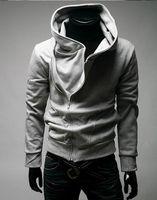 xxl hohe kragenjacke männer großhandel-Großhandels-Heißer Verkaufs-hoher Kragen-Männer Jacke Spitzenmarken-Männer Staub-Mantel-Kapuzenjacke-Kapuzenpullis-Mann-Kleidungs-Strickjacke plus Größe M L XL XXL