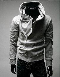 Wholesale Long Sweater Coat Sales - Wholesale-Hot Sale High Collar Men's Jacket Top Brand Men's Dust Coat Hoody Jacket Hoodies Men Clothes Sweater Plus size M L XL XXL