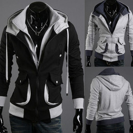 Barato Estilo Assassino Atacado-Velour Estilo Creed Desmond Hoodie Atacado-NEW do assassino
