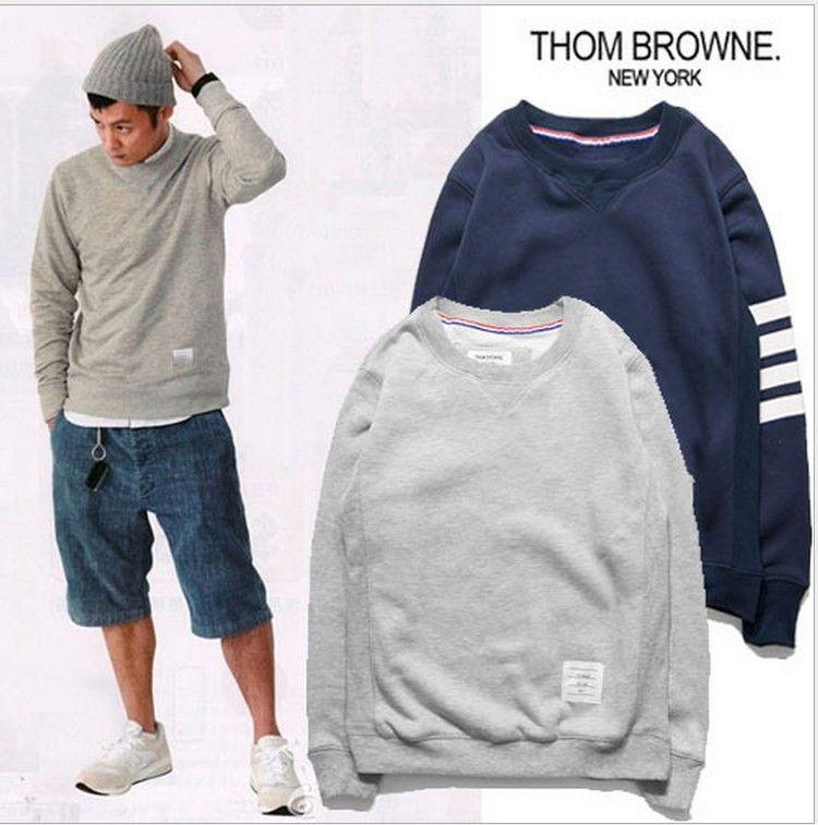 ea4991b0a26 2019 Wholesale Men Fashion Cotton Sweatshirt Thom Brown Hot Sale Mens Shirts  Blue Grey From Jst2015