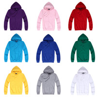 Wholesale Cheap Gray Hoodies - Wholesale-2015 Spring 100%Cotton Cheap Men's Women's Lover Hoodies Men Solid Color Simplicity Sport Sweatshirt 10 Colors Plus SIZE