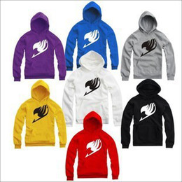 Wholesale Fairy Tail Hoodie - Wholesale-Free Shipping high quality 2015 new sale japanese anime Fairy tail pullover for Spring Autumn winter Fairy tail hoodies 8 color