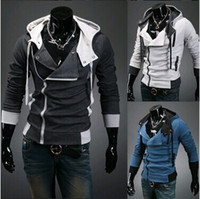 Wholesale Cardigan Jacket Assassins Creed - Wholesale-Sports Hooded Jacket Casual Winter Jackets hoody sportswear Assassins Creed Men's Clothing Hoodies Sweatshirts Free Shipping