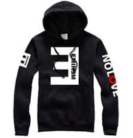 Wholesale Hoody Zip Sleeve - Wholesale-Hip Hop Rap Eminem NO LOVE Man Thick Fleece Hooded Hoodie Slim Shady Women Zip Sweatshirt Hoody