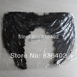 Wholesale Adult Party Wings - Wholesale-Black Feather Angel Wing Kids Performance Products  Adult Halloween Angel Wings White Feather Costume Prop Birthday Party Supply