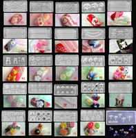 Mixed 80 Designs 3D Nail Art Acryl Silikon Silikon Nagel Form Acryl DIY Dekoration neues Werkzeug