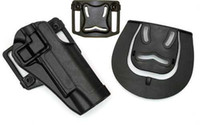 Wholesale Plastic Tactical Holster - Wholesale-BlackHawk Style Serpa CQC 1911 Holster Tactical 1911 hard plastic Holsters Black free shipping