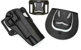 Fundas de plastico online-Al por mayor-BlackHawk Style Serpa CQC 1911 Holster Tactical 1911 fundas de plástico duro Negro envío gratis