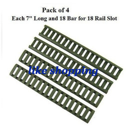 "Wholesale-7"" Handguard Ladder Rail Cover (18 Ladder Bar), OD Green (pack of 4) free shipping"