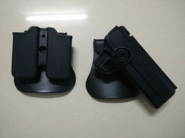 Wholesale Emerson Airsoft - Wholesale-EMERSON IMI defense pistol and magazine holster for 1911 Airsoft (Tan BALCK) free shipping