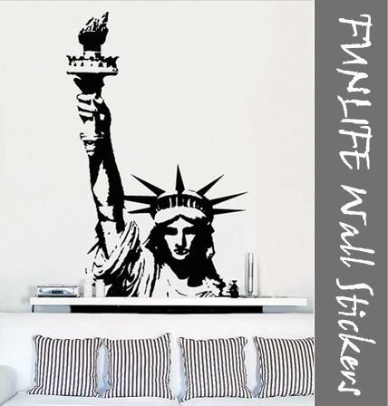 Funlife Graphic Wall Stickers Vinyl Wall Art Decal Sticker Statue Of Liberty  40 X 62 Girl Wall Decals Girl Wall Stickers From Beadedcity, $11.59|  Dhgate.Com