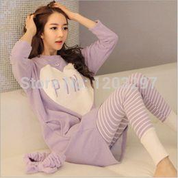 Wholesale Sleepwear Pajamas For Women - Wholesale- New Arrival Cheap Worth Autumn And Winer Casual Print Pajamas Sets For Women Long Sleeve Pijama Feminino Loose Sleepwear