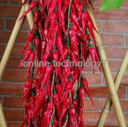 Wholesale Artificial Flower Strings - Wholesale-Artificial Flowers Flowers Crafts Scrapbooking Artificial Dried Chillies String Fake Hot Pepper Faux Fruit House Kitchen Decor