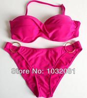 Wholesale Cheap Bathing Suits For Sale - Wholesale-Women swimwear swimsuit bathing suit twist bandeau bikini with ring Maillot de bain discount cheap biquini for sale C04