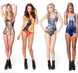 Wholesale Bathing Beauty Swimsuit - Wholesale-Free Shipping Beauty Women Favor Top Strapless Bikini set Sexy Swimsuit Beachwear Swimwear 3D Digital Print bathing 1pcs lot