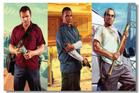 Wholesale Grand Theft Auto V Game Wall Silk Poster x32 x24 x12 inch Big Promote Prints Boy Room GTA GTA5 Girl Box Art