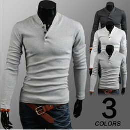 Noël Polos Pas Cher-Gros-New 2015 Mens V Neck Marque Man Christmas Casual Shirt Jumpers Laine Pull Hommes Cardigan en maille Polo
