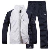 Wholesale Athletic Jacket Pants - Wholesale-Free Shipping - Fashion Women and Men's Sports Suit, Sportswear Athletic Clothing Sets Jackets Garment+Pants Size M-4XL