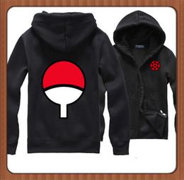 Wholesale naruto sasuke hoodie - Wholesale-New naruto hoodie Anime Naruto Sasuke Uchiha Thicken Jacket Hooded Sweatshirt Hoodie Naruto Cosplay Hoodie
