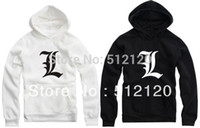 All'ingrosso FreeShipping-DEATH NOTE L LOG Ryuk COSPLAY con cappuccio sweatershirt Bleach fata ali punk GIACCA anime felpe in pile 8 colori
