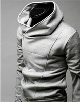 Wholesale Korean Style Mens Winter Coats - Wholesale-Korean Style Winter Ziper Hoodies Black Blue Brown Gray Hoodies Clothing Mens Coat Sweatshirts Tops M-XXXL